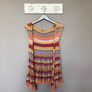 Free People Jackets & Coats - Free People | Colorful Crochet Vest